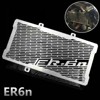 Kawasaki ER6F ER6N stainless steel radiator guard protector grille cover