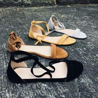 Flat Suede Sandals