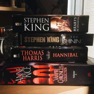 Pre-loved Books (Stephen King, Anne Rice, Thomas Harris)
