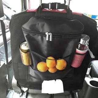 Car back seat food storage bag multi pocket hanger organizer cooler