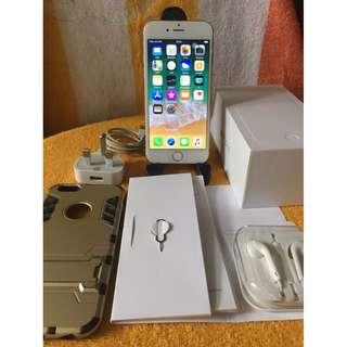 iPhone 6 128gb Gold Fullset Garansi Inter
