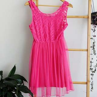 Fun Pink dress from Miss Shop