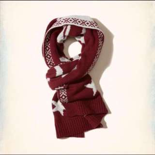 Authentic Hollister Textured Knit Scarf