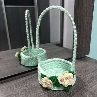Baskets - with flowers decor