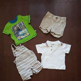 Baby Boy Clothes bundle pants and shirts - up to 9 months.
