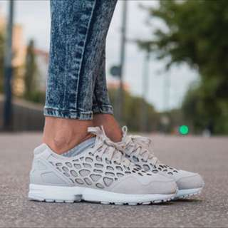 Adidas ZX Flux Lace in Pearl Grey