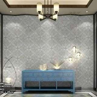 Waterproof Peel and stick adhesive wallpaper size : 10m*45cm