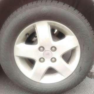 Tyre Tire Tayar Viking 185/65/14 Tahun 2017 Terpakai