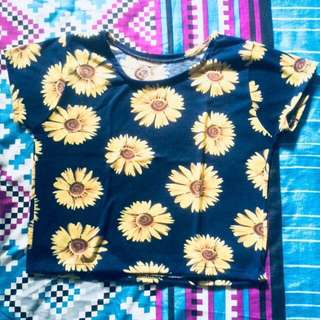 Crop top flower #awaltahun