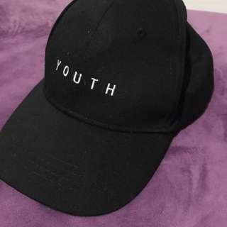 韓風白字母鴨舌帽
