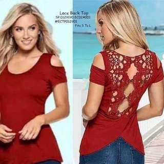 Lace back top fits S-L