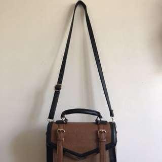 Brown/Black Shoulder Bag