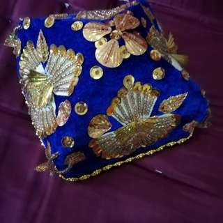 Special gold embroidery hat for kids #square #hat