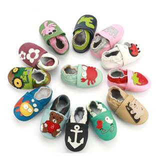 Cute Baby Leather Slippers