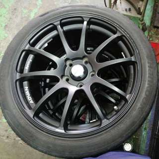 "18"" R. ADVAN RACING RZ WHEELS"