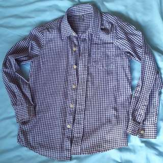 #July50 Zara Kids Checkered Grey Shirt