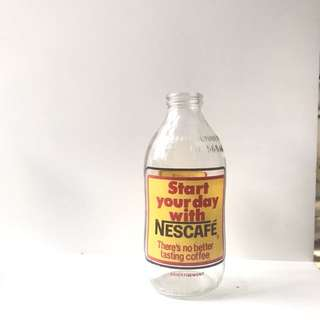 Nescafe glass bottle