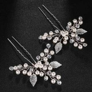 Brand new hair pins for wedding or party (2 pieces in a set)