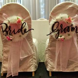 Bride and Groom ROM chair signage