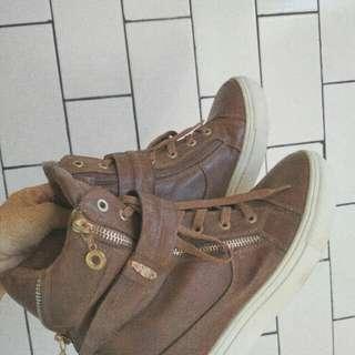 Sneaker Wedges Brown 39