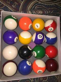 Billiard pool balls