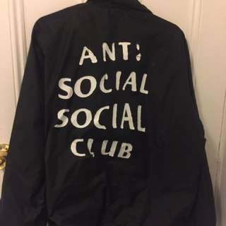 Cracked af anti social social club coach jacket