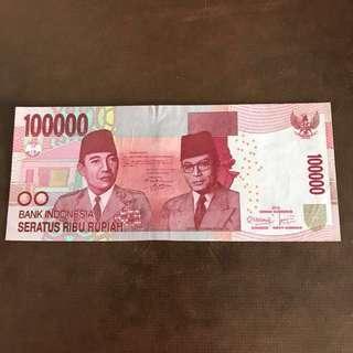 INDONESIA-100000 SERATUS RIBU RUPIAH