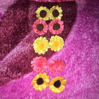 Handmade Sunflower earrings