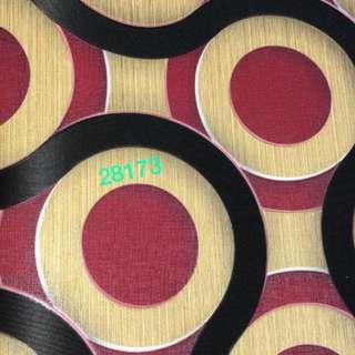 Wallpaper dinding motif lingkaran