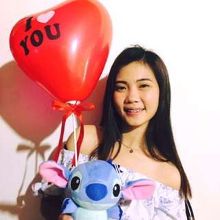 Stitch with Heart Balloon