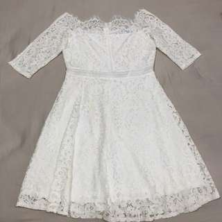 Full Lace White Dress