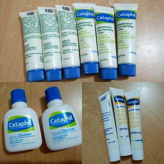 Free MAIL New Cetaphil Cleanser Moisturizer Sunscreen ultra Hydrating Lotion
