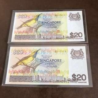 SINGAPORE BIRD SERIES $20