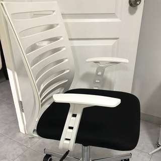 BN Office Chair - White & Black