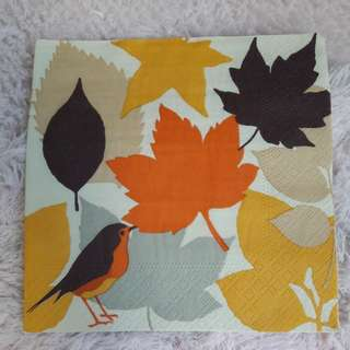 Decoupage napkin paper