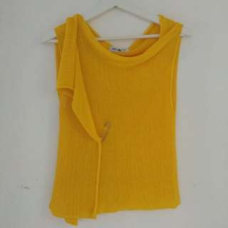 (Reprice from 40K) Yellow Luxe Cardigan