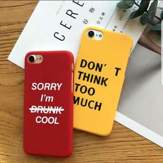 WORDS MATTE IPHONE CASE