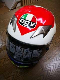 AGV Ti Tech Valentino Heart Helmet