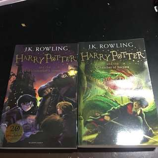 Harry Potter Philosopher's Stone and Chamber of Secrets