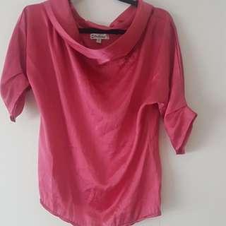 Pink/Fuchsia Blouse size 8