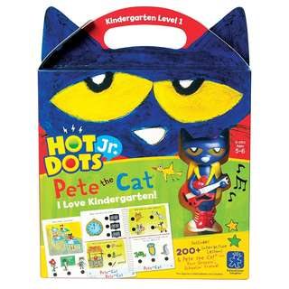 BRAND NEW Educational Insights Hot Dots Jr. Pete the Cat I Love Kindergarten! Set