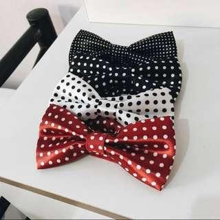 Premium Satin Silk Polka Dots Bow Tie