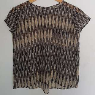Black abstract top