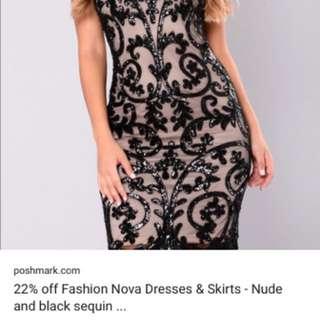 *NEW* Fashion Nova black sequin dress