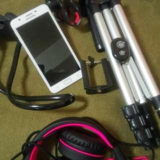 samsung j7 bluetooth tripod headset