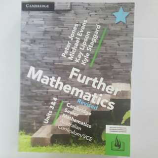 Cambridge Further mathematics revised textbook units 3 and 4 year 12