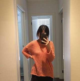 Korean Cute Orange Sweater