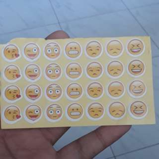 Selling my brand new 28 piece emoji stickers at only $0.40