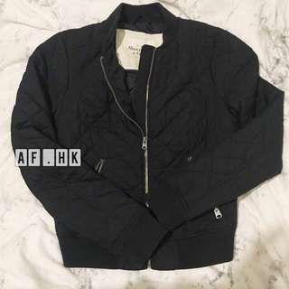 abercrombie &fitch navy bomber jacket