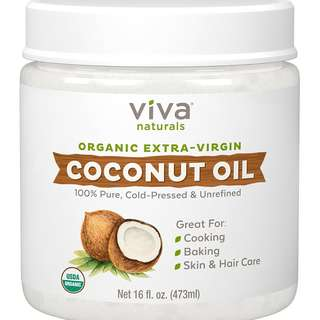 Viva Naturals Organic Extra Virgin Coconut Oil | Great for cooking, baking, skin & hair care